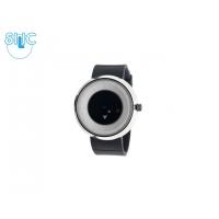 Hodinky Silic Watch Tikati - černo-bílé se stříbrným okrajem