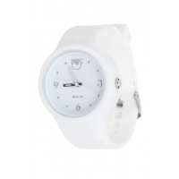 Silic Watch COLOR Round Babe - bílá variace / černý ciferník
