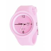 Silic Watch Color Round - růžová