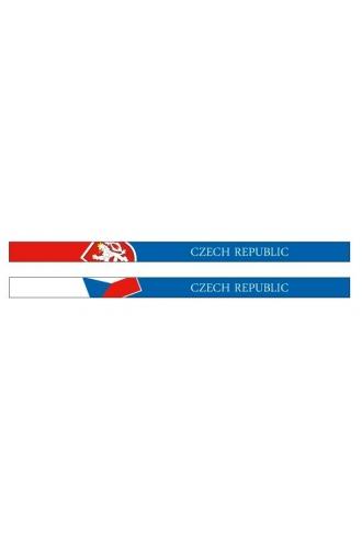 Silikonové náramky s vlajkou ČR