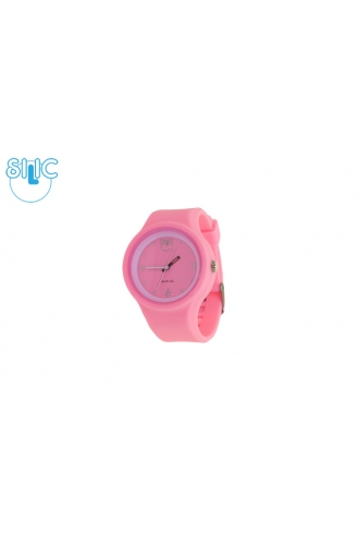 Silic Watch COLOR Round Babe - růžová variace