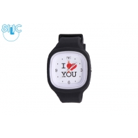 Silic Watch Color – I Love You bílá variace