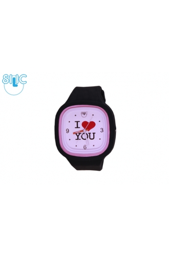 Silic Watch Color – I Love You sv. růžová variace