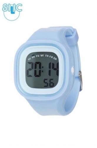 Silic Watch Color Digital - světle modrá