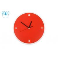 Nástěnné hodiny - červené plus - mínus