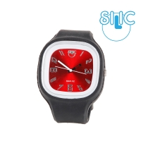 Silic Watch COLOR Numeral - červená variace