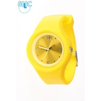 Silic Watch COLOR Round Babe - žlutá variace