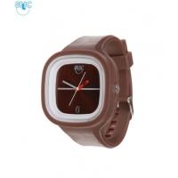 Silic Watch COLOR - čokoládová variace s bílým orámováním