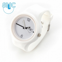Silic Watch Color Round - bílá