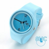 Silic Watch Color Round - modr