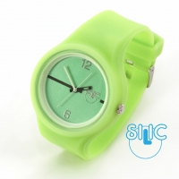 Silic Watch Color Round - zelen