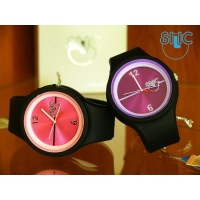 Silic Watch Color Round - fialovočerná