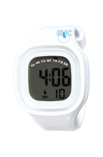 Silic Watch Color Digital - bílá