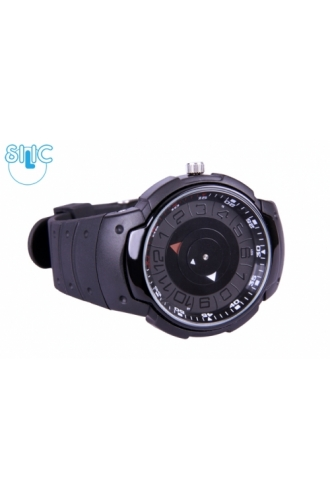 Hodinky Silic Watch Trend - černé se stříbrným okrajem