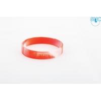 silikonový náramek Silic MIX bílá - červená - svítící