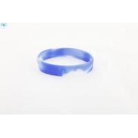 silikonový náramek Silic MIX bílá-modrá - svítící
