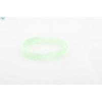 silikonový náramek Silic MIX bílá-světle zelená - svítící