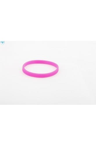 silikonový náramek Silic SLIM světle růžová - svítící