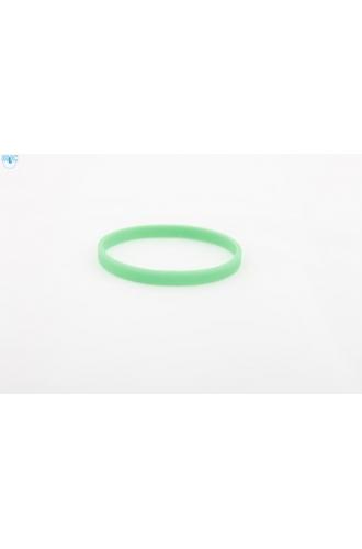 silikonový náramek Silic SLIM zelená - svítící