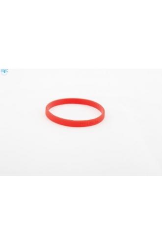 silikonový náramek Silic SLIM červená