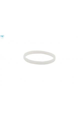 silikonový náramek Silic SLIM bílá - svítící