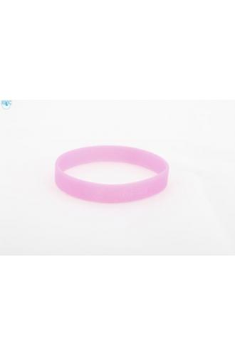 silikonový náramek Silic GLITTER růžová - svítící