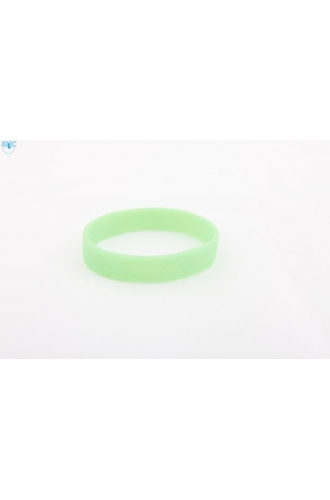 silikonový náramek Silic GLITTER světle zelená - svítící