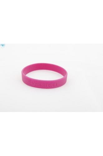 silikonový náramek Silic GLITTER tmavě růžová - svítící