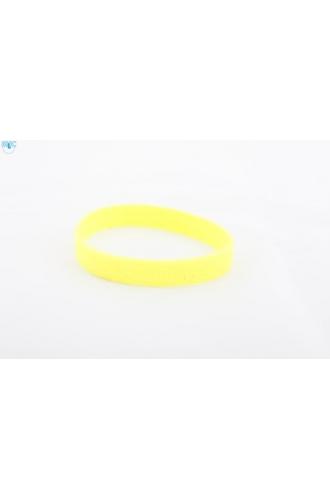 silikonový náramek Silic GLITTER žlutá - svítící