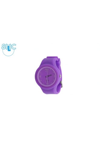 Silic Watch COLOR Round Babe - fialová variace