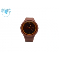 Silic Watch Color Round - chocolate 