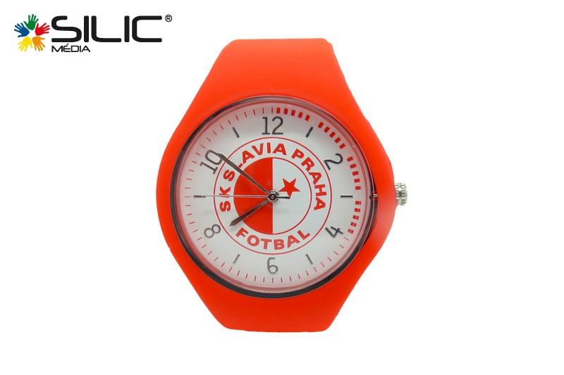 silikonové hodinky reklamní Slavia